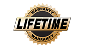 All of our products come with a transferrable lifetime warranty.
