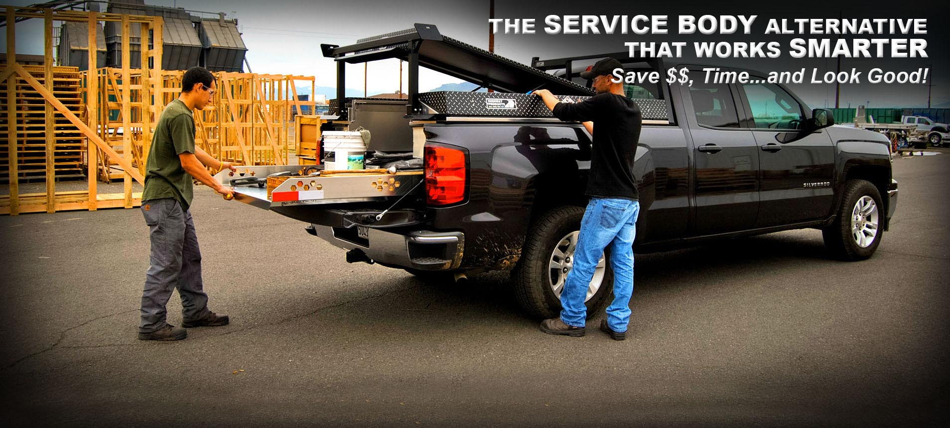 The Highway Products Pickup Pack is the service body alternative! Smarter, lighter, and cheaper!